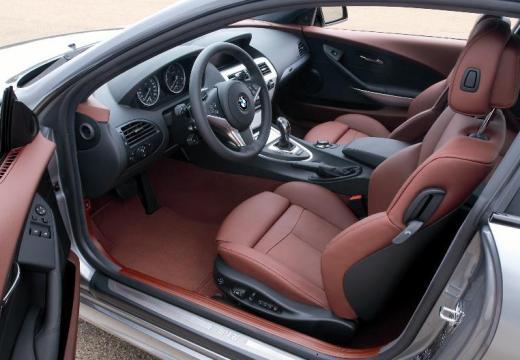 BMW Seria 6 E63 II coupe silver grey wnętrze