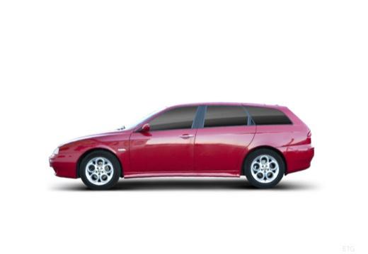 ALFA ROMEO 156 Sportwagon III kombi czerwony jasny boczny lewy