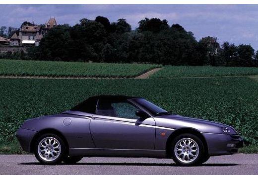 ALFA ROMEO Spider II kabriolet silver grey boczny prawy