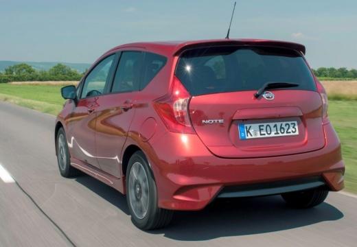 NISSAN Note hatchback czerwony jasny tylny lewy