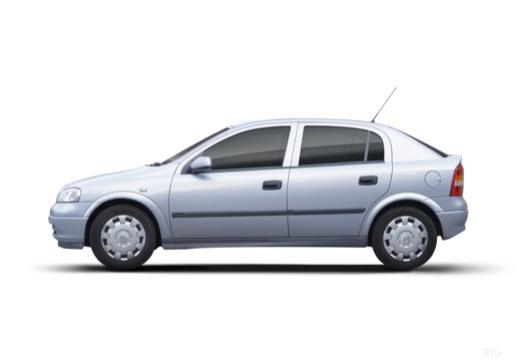 OPEL Astra II hatchback silver grey boczny lewy