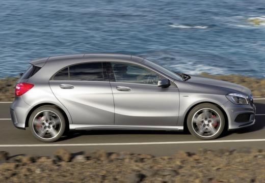 MERCEDES-BENZ Klasa A I hatchback silver grey boczny prawy