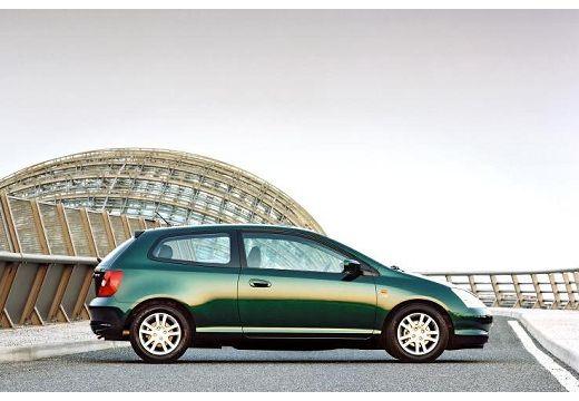 HONDA Civic IV hatchback zielony boczny prawy