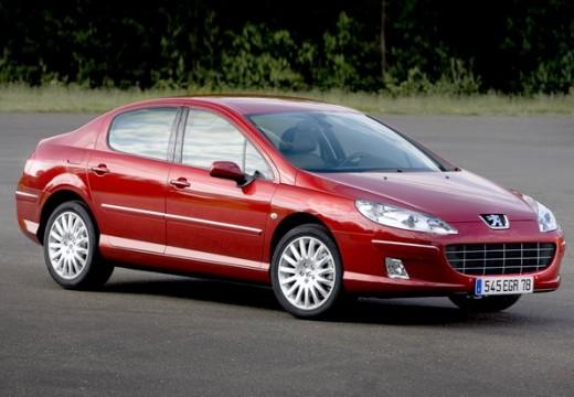 PEUGEOT 407 sedan czerwony jasny przedni prawy