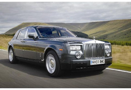 ROLLS-ROYCE Phantom I sedan silver grey przedni prawy
