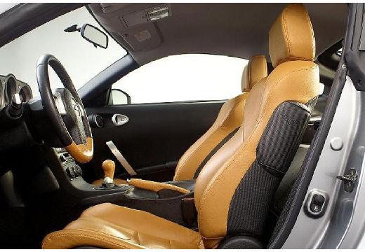 NISSAN 350 Z coupe silver grey wnętrze