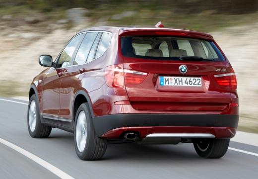 BMW X3 X 3 F25 I kombi czerwony jasny tylny lewy
