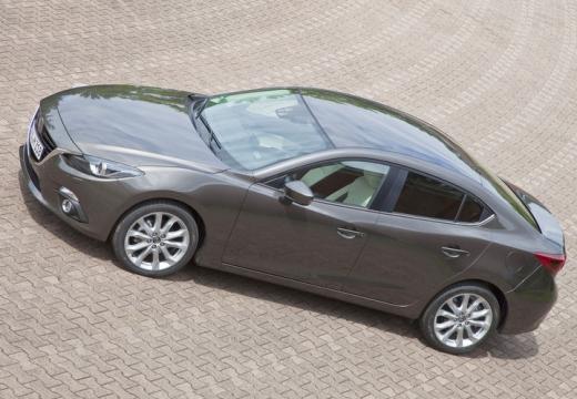 MAZDA 3 V sedan silver grey boczny lewy
