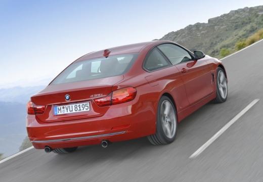 BMW Seria 4 F32 coupe czerwony jasny tylny prawy