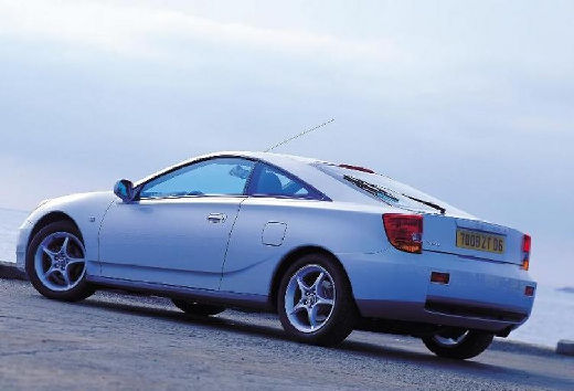 Toyota Celica coupe silver grey tylny lewy