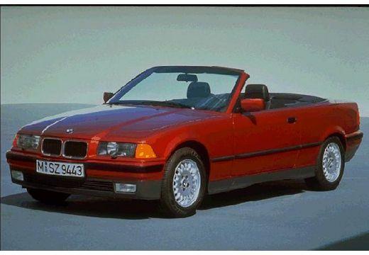 BMW Seria 3 Cabriolet E36 kabriolet bordeaux (czerwony ciemny) przedni lewy