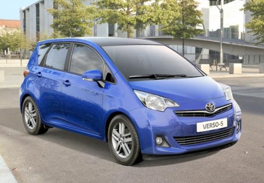 Toyota Verso-S I hatchback niebieski jasny przedni prawy
