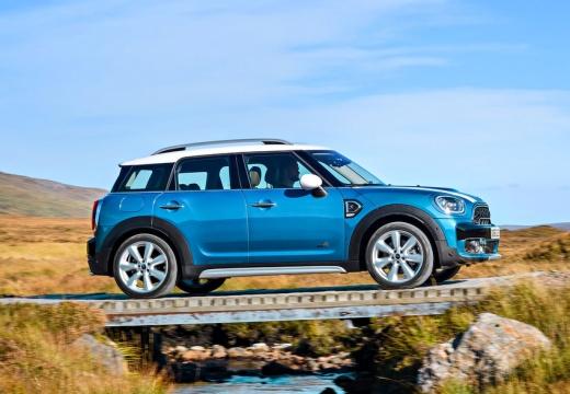 MINI [BMW] Countryman kombi niebieski jasny boczny prawy