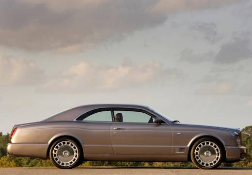 BENTLEY Brooklands coupe silver grey boczny prawy