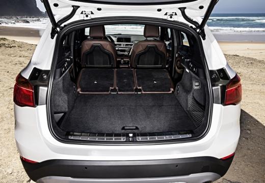 BMW X1 X 1 F48 I kombi biały przestrzeń załadunkowa