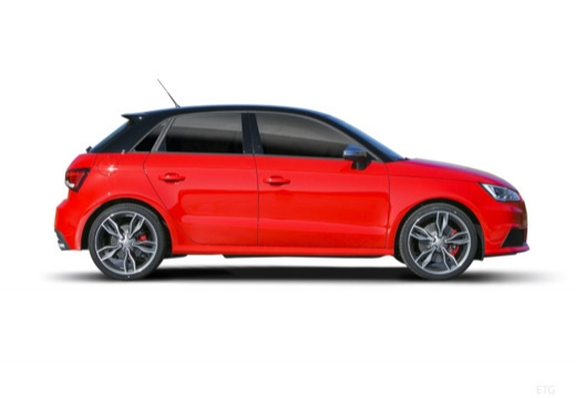 AUDI A1 Sportback I hatchback czerwony jasny boczny prawy