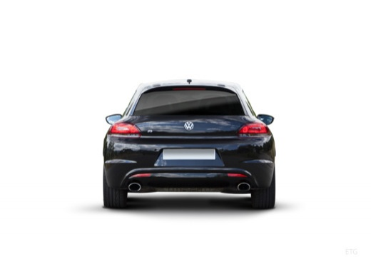 VOLKSWAGEN Scirocco III I coupe czarny tylny