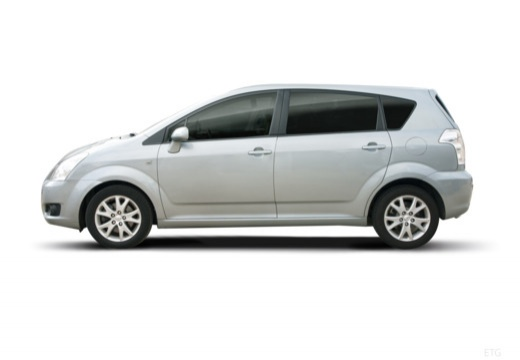 Toyota Corolla Verso III kombi mpv silver grey boczny lewy
