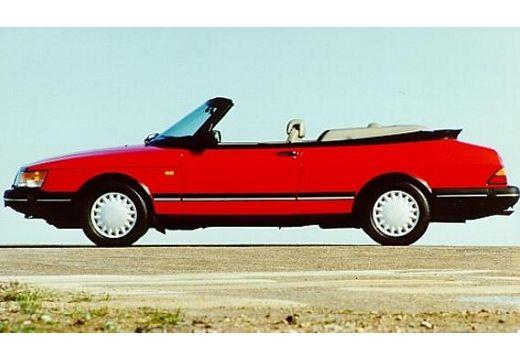 SAAB 900 Cabriolet Classic kabriolet czerwony jasny boczny lewy