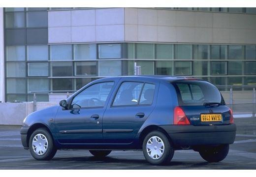 RENAULT Clio II I hatchback niebieski jasny tylny lewy