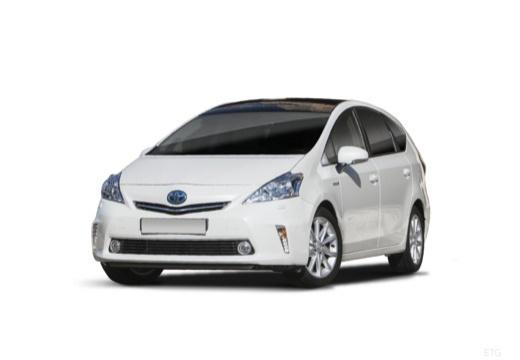 Toyota Prius + I kombi biały przedni lewy