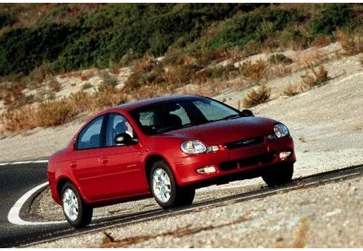 DODGE Neon II sedan bordeaux (czerwony ciemny) przedni prawy