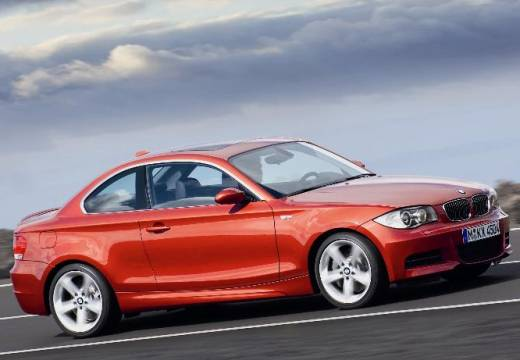 BMW Seria 1 coupe pomarańczowy przedni prawy