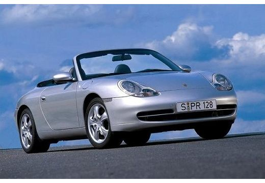 PORSCHE 911 Cabrio 996 kabriolet silver grey przedni prawy