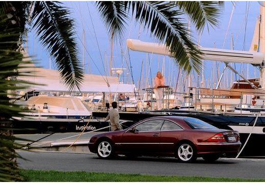 MERCEDES-BENZ Klasa CL 215 coupe bordeaux (czerwony ciemny) tylny lewy