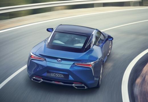LEXUS LC coupe niebieski jasny tylny