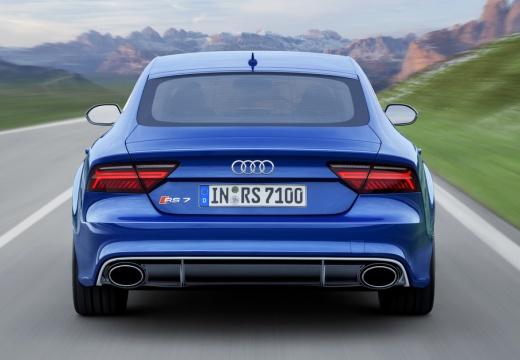AUDI A7 Sportback II hatchback niebieski jasny tylny