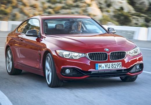 BMW Seria 4 F32 coupe czerwony jasny przedni prawy
