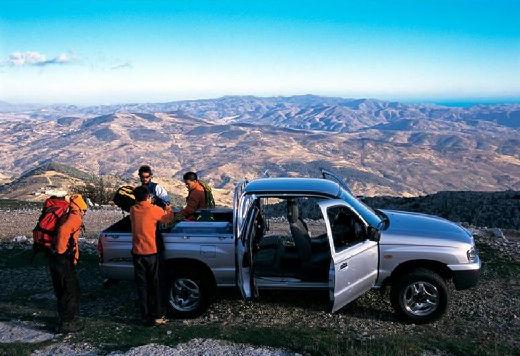 MAZDA B-seria pickup silver grey boczny prawy