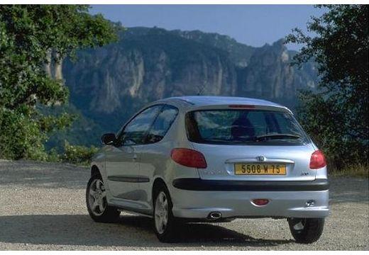 PEUGEOT 206 II hatchback silver grey tylny lewy