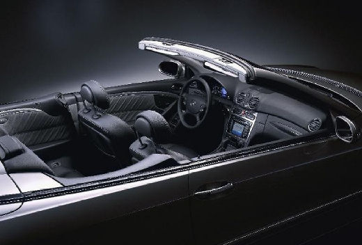 MERCEDES-BENZ Klasa CLK kabriolet czarny wnętrze