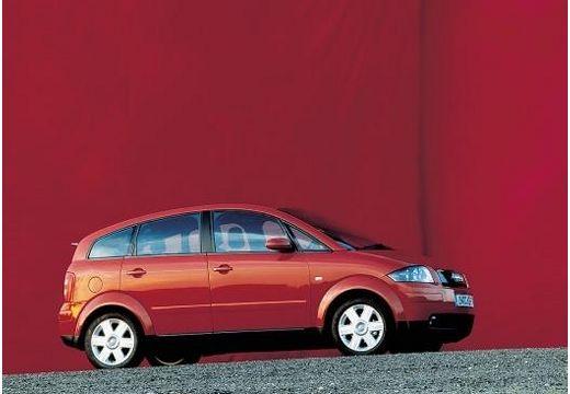 AUDI A2 hatchback czerwony jasny boczny prawy