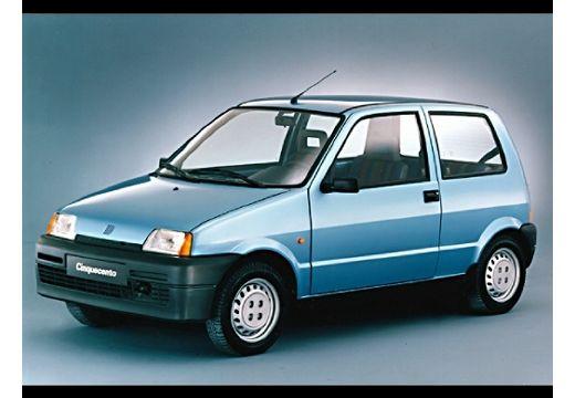 FIAT Cinquecento I hatchback niebieski jasny przedni lewy