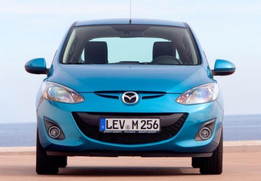 MAZDA 2 III hatchback niebieski jasny przedni