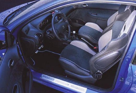 PEUGEOT 206 II hatchback niebieski jasny wnętrze