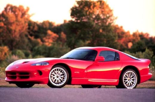 DODGE Viper coupe czerwony jasny przedni lewy