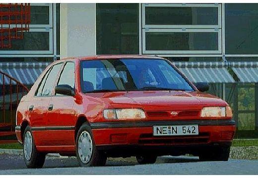 NISSAN Sunny II hatchback czerwony jasny przedni prawy