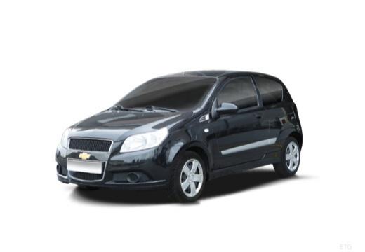 CHEVROLET Aveo II hatchback czarny przedni lewy