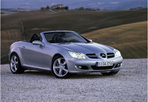 MERCEDES-BENZ Klasa SLK roadster silver grey przedni prawy
