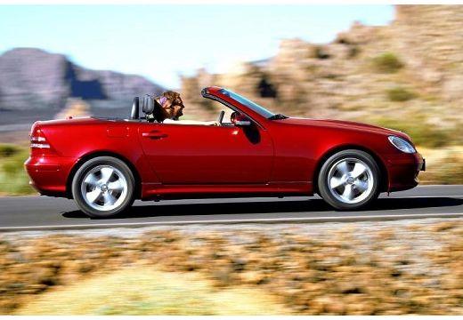 MERCEDES-BENZ Klasa SLK SLK R 170 kabriolet bordeaux (czerwony ciemny) boczny prawy