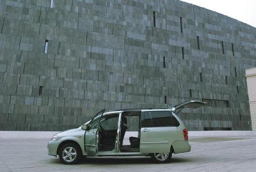MAZDA MPV II van silver grey boczny lewy