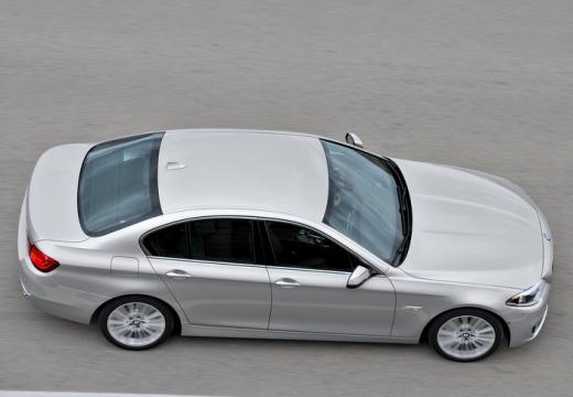BMW Seria 5 F10 II sedan silver grey boczny prawy