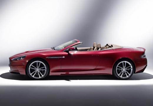 ASTON MARTIN DBS kabriolet czerwony jasny boczny lewy