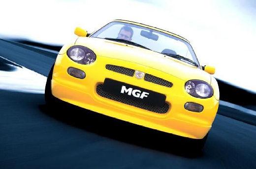 MG F I roadster żółty przedni