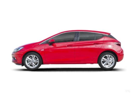 OPEL Astra V I hatchback czerwony jasny boczny lewy