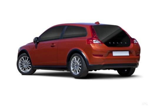 VOLVO C30 II hatchback pomarańczowy tylny lewy